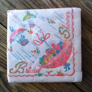 1960s Bridal Shower Paper Napkins Pack of 32